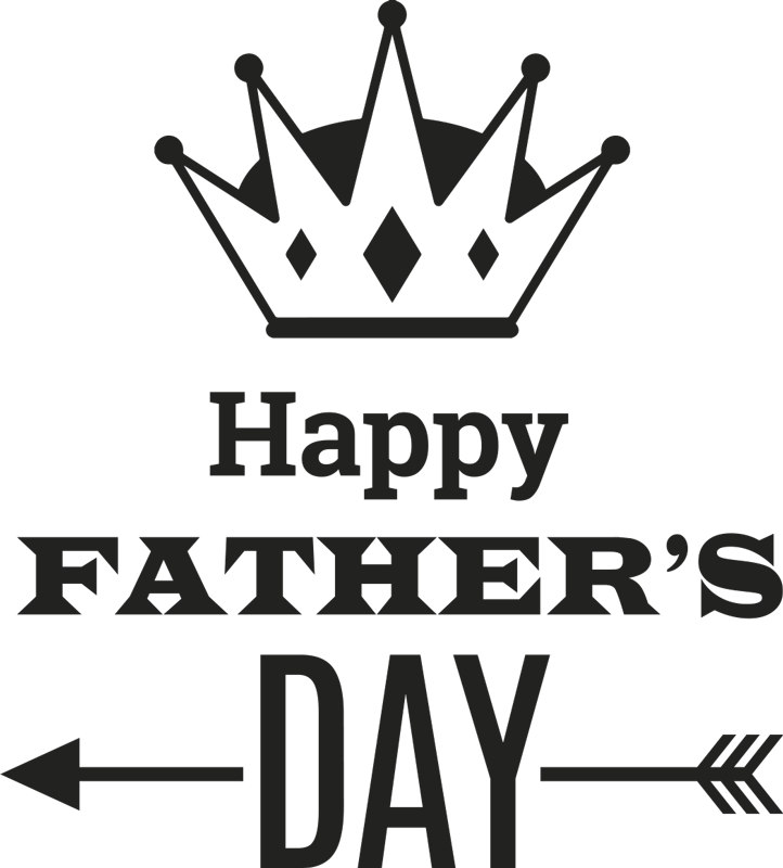 TenStickers. Father's Day Sticker. Superb festive wall sticker to celebrate Father's Day in a very special way! Brilliant monochrome decal to decorate your home or store.