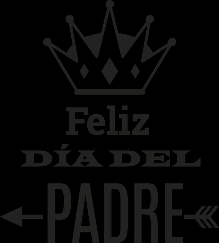 TenVinilo. Vinilo decorativo cartel día del padre. Vinilo de un cartel promocional para negocios con el que promocionar tu próxima campaña del día del Padre.
