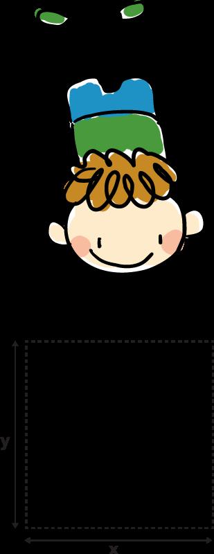 TenStickers. Sticker Lichtschalter kleiner Akrobat. Niedliches Design von einem kleinen Akrobat als Aufkleber für den Lichtschalter oder der Steckdose. Kleiner Junge macht einen Handstand.