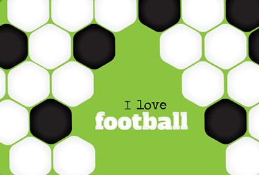 TenStickers. Laptop Sticker i love football. Einzigartiger Sticker für Ihren Laptop oder Ihr MacBook. Gestalten Sie Ihre Geräte mit einem sportlichen Sticker.