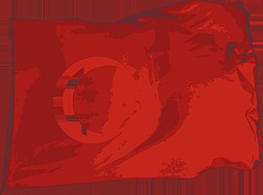 TenStickers. Adesivo decorativo bandiera Turca. Wall sticker decorativo che raffigura la bandiera turca. Ideale per tutti coloro che amano questo fantastico Paese.