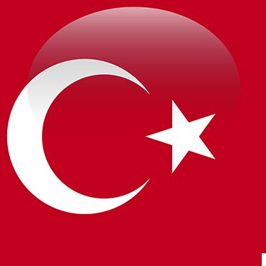 Drapeau Rond sticker mural drapeau rond turquie - tenstickers