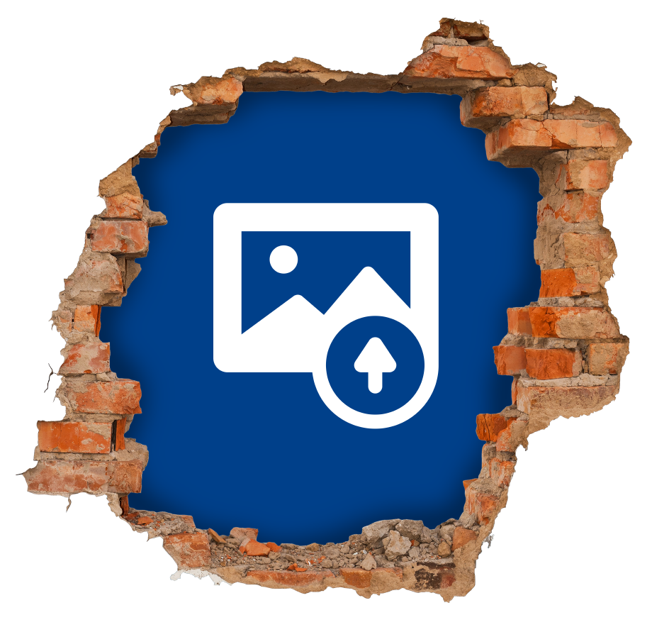 TenStickers. Brick Wall Hole Custom Sticker. Create a spectacular three-dimensional effect on the walls of your home, and personalize it with any background that you want.