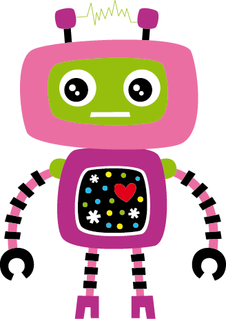 TenStickers. Kids Pink Robot Wall Sticker. A pink robot with a heart. This friendly robot from our collection of robot wall stickers is perfect for decorating areas for children.