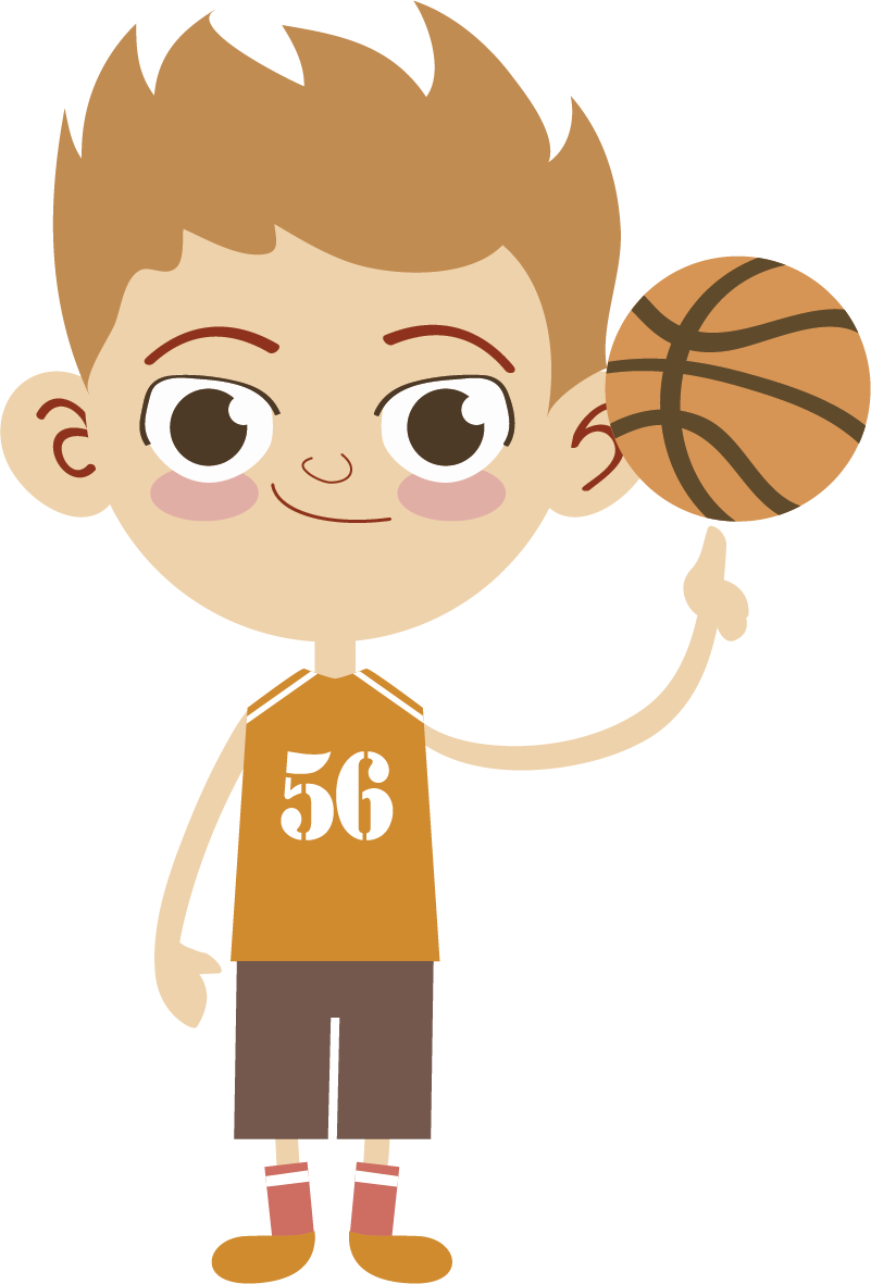 TenStickers. Basketball Player Wall Sticker. Sports Stickers - Illustration of a friendly basketball player.Designs ideal for fans & sports-related organisations.
