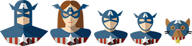 TenStickers. Captain America Familie Sticker. Decoreer uw voertuig met deze decoratieve sticker van de Captain America familie. Afmetingen aanpasbaar. Dagelijkse kortingen.