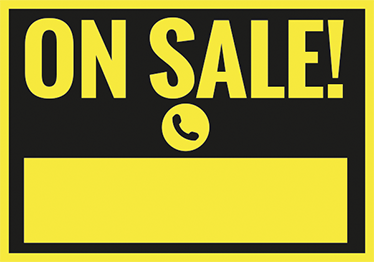 TenStickers. On Sale Sign Yellow. Advertise clearly and easily to customers that you are having a sale.