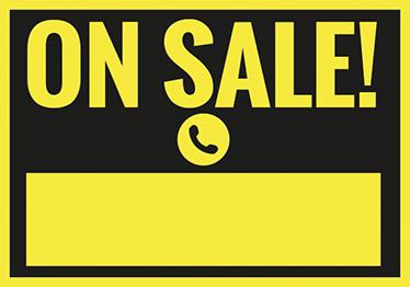 """TenStickers. On Sale Raam en Muursticker. Laat weten dat uw woning of auto te koop staat met deze """"On Sale"""" raamsticker. Verkrijgbaar in verschillende afmetingen. Snelle klantenservice."""