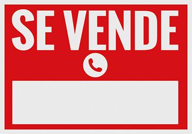 TenVinilo. Vinilo cartel se vende rojo y blanco. Señala claramente si tienes una casa, vehículo o negocio en venta con un vinilo decorativo.