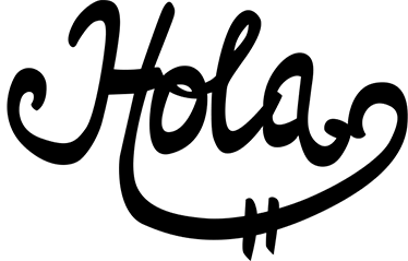 """TenVinilo. Vinilo decorativo caligráfico hola. Vinilo decorativo para el hogar con un original diseño caligráfico con la palabra """"hola""""."""