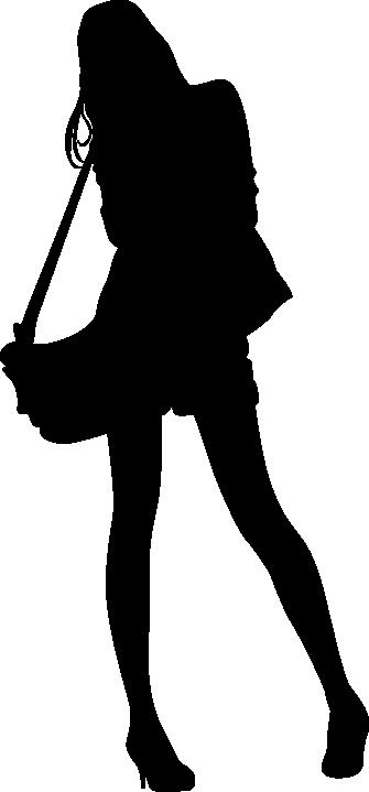TenStickers. 一个女人的剪影与袋回家墙贴. 通过用一个女人的手袋的剪影贴纸装饰客厅,个性化您的墙壁。您可以更改此贴花的颜色和大小。交货快。