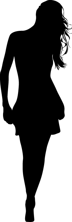 TenStickers. Hair Down Girl Silhouette Sticker. Decorative sticker illustrating an a silhouette of a woman with her hair down. Superb decal to decorate any room at home.