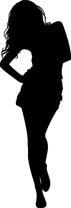 TENSTICKERS. 女性ウォーキングシルエットデカール. あなたに向かって長い髪を歩いている若い女性のビニールステッカー!この装飾的なシルエットステッカーは、さまざまなサイズと色で入手できます。