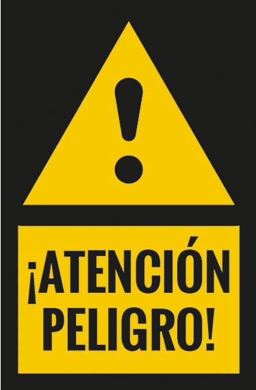 TenVinilo. Pegatina atención peligro para señalizar. Vinilos de señalización para empresas con los que indicar de forma clara qué lugares conllevan cierto peligro.