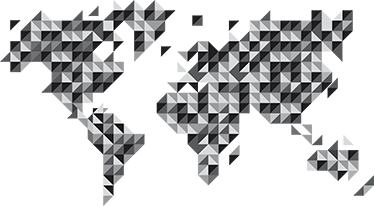 grey geometric world map sticker