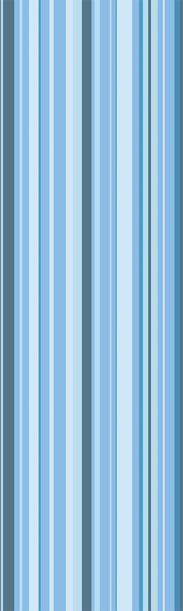 TenStickers. Blue Striped Fridge Sticker. Vinyl sticker that is ideal for your refrigerator. Decorate your kitchen in a bright, stylish and fun way with this striped sticker in blue tones.