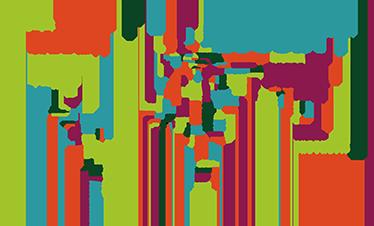 Adesivo Mappamondo Paesi Colorato Tenstickers
