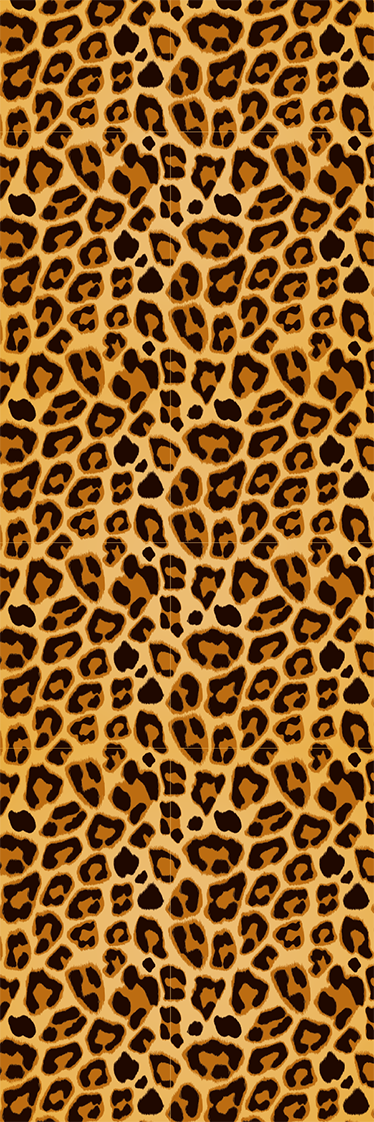 TenStickers. Leopard Print Fridge Sticker. Decorate your refrigerator door with this leopard skin texture to give a wild touch to your home.