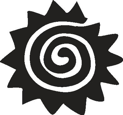 TenStickers. Sticker zon spiraal. Ben je die kale muren in je woning beu? Je kan ze nu opfleuren met deze leuke muursticker van een zon in de vorm van een spiraal voor muren.