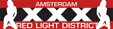 TenStickers. Muursticker Amsterdam Red Light District. Een van de logo´s betreft de wallen in Amsterdam, een van ´s werelds bekendste prostitutie wijken in Amsterdam.