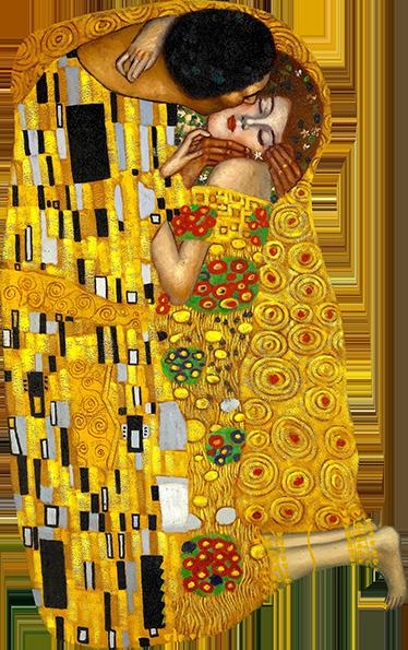 TenStickers. Muursticker Gustav Klimt. Breng een van de prachtige werken van Gustav Klimt als muursticker aan in uw woning. Afmetingen aanpasbaar. Voordelig personaliseren.