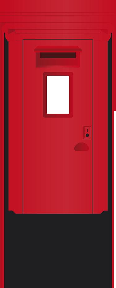 TenVinilo. Vinilo decorativo buzón londinense. Pegatina decorativa del conocidísimo buzón londinense. El buzón junto a la cabina telefónica son algunos de los iconos de la capital inglesa.