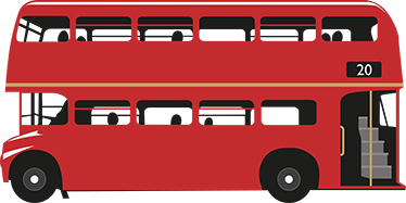 TenStickers. Red London Bus. From our collection of London themed stickers, a great design of an iconic red double-decker bus. Discounts available now.