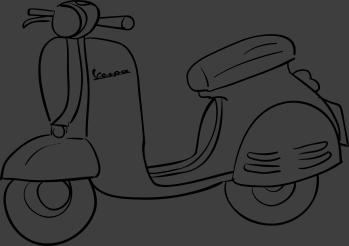 TenStickers. Autocollant mural scooter Vespa. Stickers mural illustrant un modèle de scooter de la célèbre marque italienne Vespa.Sélectionnez les dimensions de votre choix.Idée déco originale et simple pour votre intérieur.