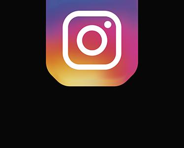 TenStickers. Adesivo logo Instagram. Adesivo decorativo che raffigura il nuovo logo di Instragma e sotto la scritta Instagram. Disponibile in dimensioni personalizzabili.