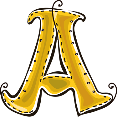 TenStickers. Letter A from the Alphabet Kids Sticker. Kids Stickers - The first letter of the alphabet - Letter A.  Great for childrens rooms or play areas.