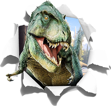 TenStickers. 3D T-Rex Wall Sticker. Run for your life! A terrifying T-Rex wall sticker that is ideal for decorating kids bedrooms.