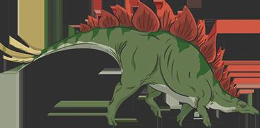 TenStickers. Muursticker Dinosaurus Stegosaurus. Een kleurrijke en stoere muursticker van de dinosaurus genaamd Stegosaurus. Verkrijgbaar in verschillende afmetingen. Express verzending 24/48u.