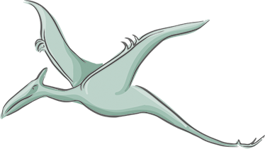 TenStickers. Pterodactylus Dinosaur Sticker. From our collection of dinosaur stickers, a great design of a flying Pterodactylus to decorate any space that you like.