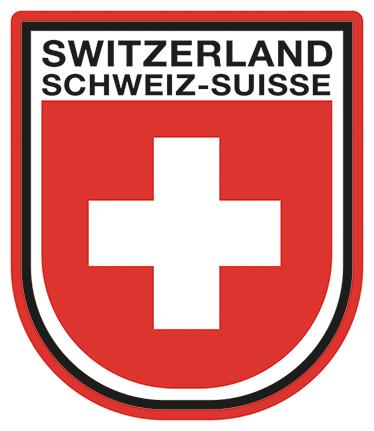 TenVinilo. Pegatina escudo de Switzerland. Pegatinas ideales para coches, ordenadores o paredes de tu casa con una representación del emblema del país helvético.