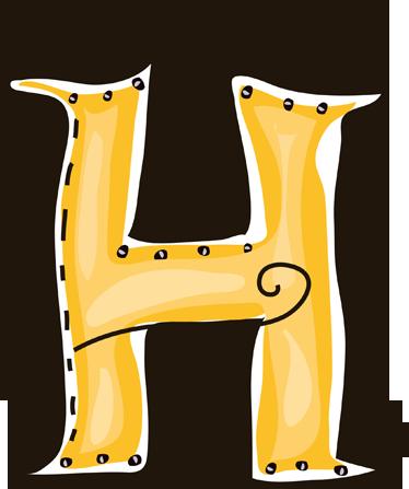 letter h sticker tenstickers