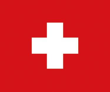 TenStickers. Adesivo bandiera svizzera a forma di cuore. Adesivo decorativo con un cuore rosso e in mezzo la croce bianca della bandiera svizzera.