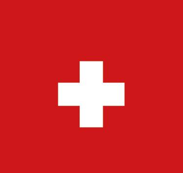 TenStickers. Adesivo bandiera della svizzera a forma di stella. Adesivo decorativo con una stella rossa e in mezzo la croce bianca della bandiera svizzera.