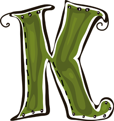 TenStickers. Letter K Sticker. Decorative sticker of the letter K. Does your child´s name start with K?  A brilliant decal to decorate your children´s room.