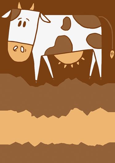"""TenStickers. Wandtattoo Immer Kuuhl bleiben. Das Wandtattoo illustriert eine Kuh mit der Aufschrift """"Immer Kuuhl bleiben"""". Witziges Wandtattoo, das mit dem Wort cool spielt."""