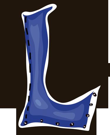 TenStickers. Sticker kinderkamer letter L. Een leuke muursticker van de hoofdletter L in het blauw! Een prachtige wandsticker voor in de slaapkamer of speelhoek van uw kinderen!