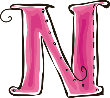 TenStickers. Letter N Sticker. Decorative sticker of the letter N. Does your child´s name start with N?  A brilliant decal to decorate your children´s room.