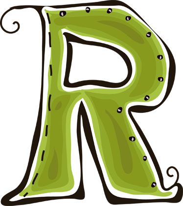 Vinilo infantil dibujo letra r TenVinilo
