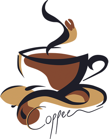 Cup of coffee sticker wall color
