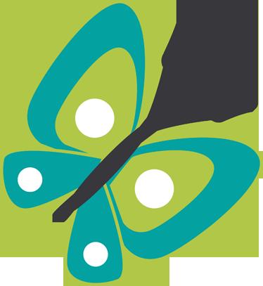 vinilo infantil dibujo mariposa verde tenvinilo