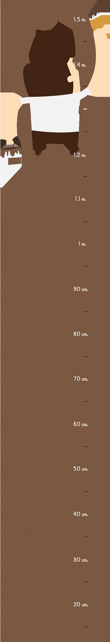TenStickers. Schilder op een Meter Ladder Muursticker. Muursticker met een schilder die boven op een ladder staat, leuke wanddecoratie voor de kinderkamer, woonkamer of school.