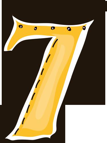 TENSTICKERS. ナンバー7ステッカー. 番号7の装飾ステッカー。これはあなたのラッキーナンバーですか?ナンバーウォールステッカーコレクションの素晴らしいデカール。
