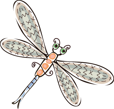 TenStickers. Kids Dragonfly Wall Sticker. Kids Wall Stickers - Playful illustration of a dragonfly. Cheerful design ideal for decorating areas for children. Ideal for kids´bedrooms.