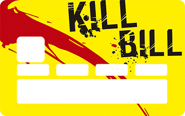 TenVinilo. Vinilo tarjeta de crédito Kill Bill. Si lo deseas puedes personalizar tarjeta de crédito con un vinilo que incluye una ilustración de película favorita.