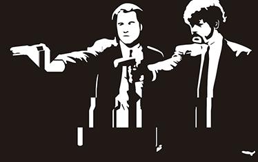 TenVinilo. Vinilo tarjeta de crédito Pulp Fiction. Adhesivos con las que podrás personalizar tu tarjeta de crédito basados en esta película de Quentin Tarantino.