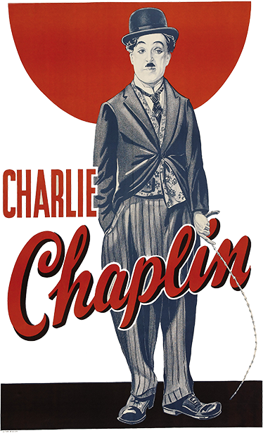 TenVinilo. Vinilo decorativo poster Charlie Chaplin. Murales de pared con una ilustración de Charlot, uno de los personajes cómicos más reconocidos de la historia. Decora las paredes de cualquier estancia de tu casa con una representación de un cartel de Charles Chaplin en su papel icónico.